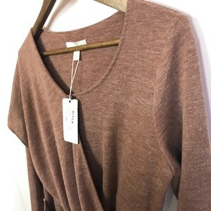 NEW Boo Radley Women's Twisted Knit Top Size Med